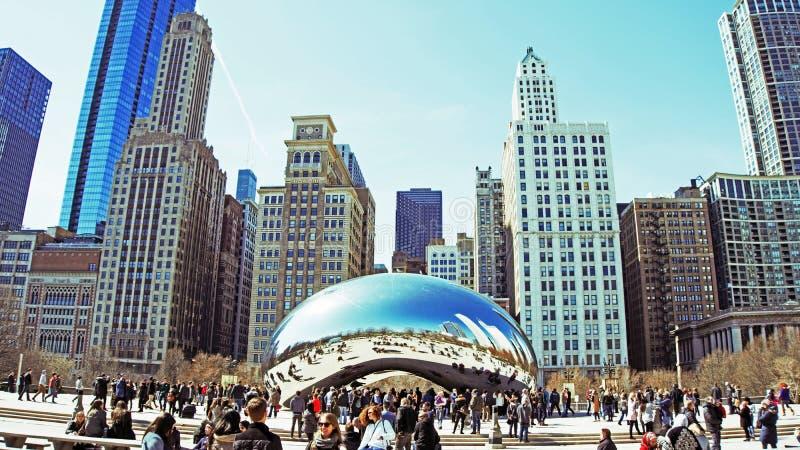 Puerta de la nube - Chicago imagenes de archivo