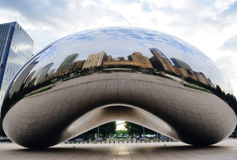 Puerta de la nube en Chicago imagen de archivo