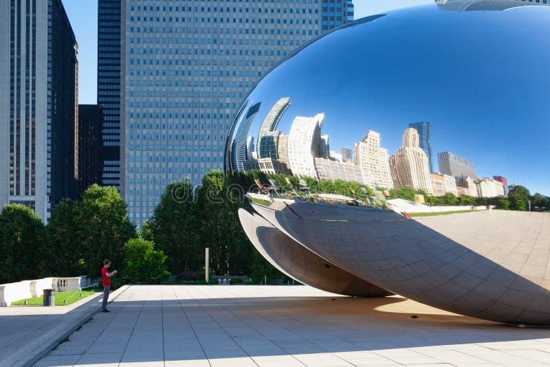 Puerta de la nube, la escultura p?blica famosa, Chicago, los E.E.U.U. imagen de archivo libre de regalías