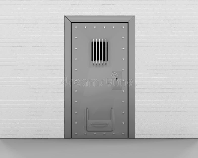 Puerta de la prisión ilustración del vector