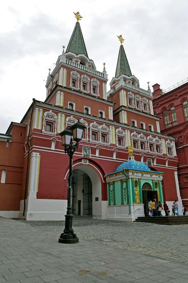 Puerta de la resurrección en la Plaza Roja, Moscú, Rusia fotos de archivo