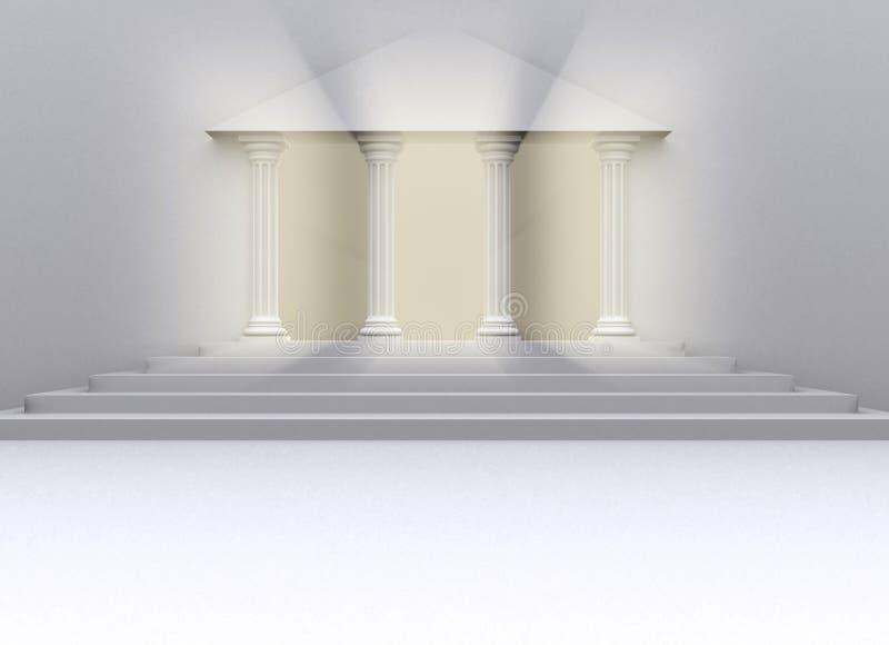 Puerta de la universidad ilustración del vector