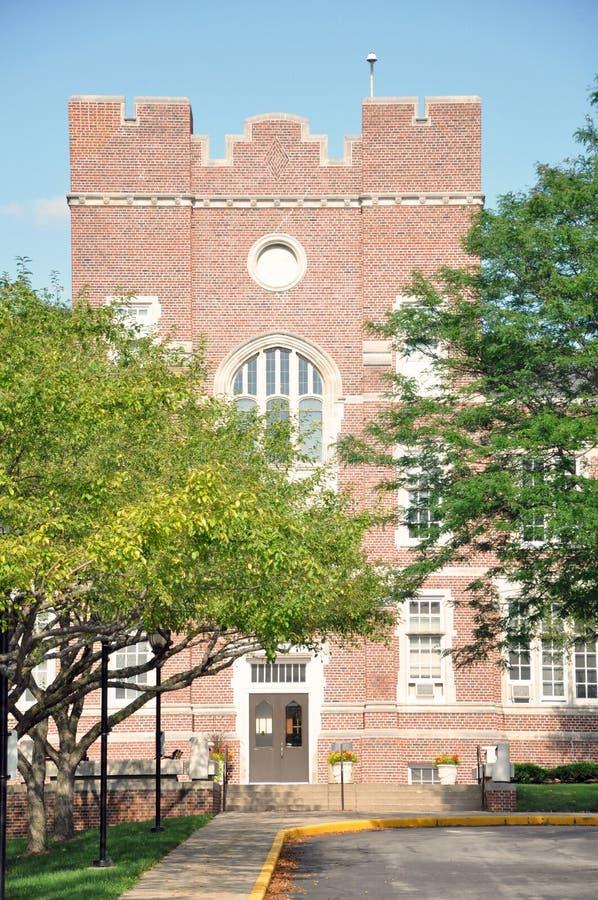 Puerta de la universidad de Simpson fotos de archivo libres de regalías