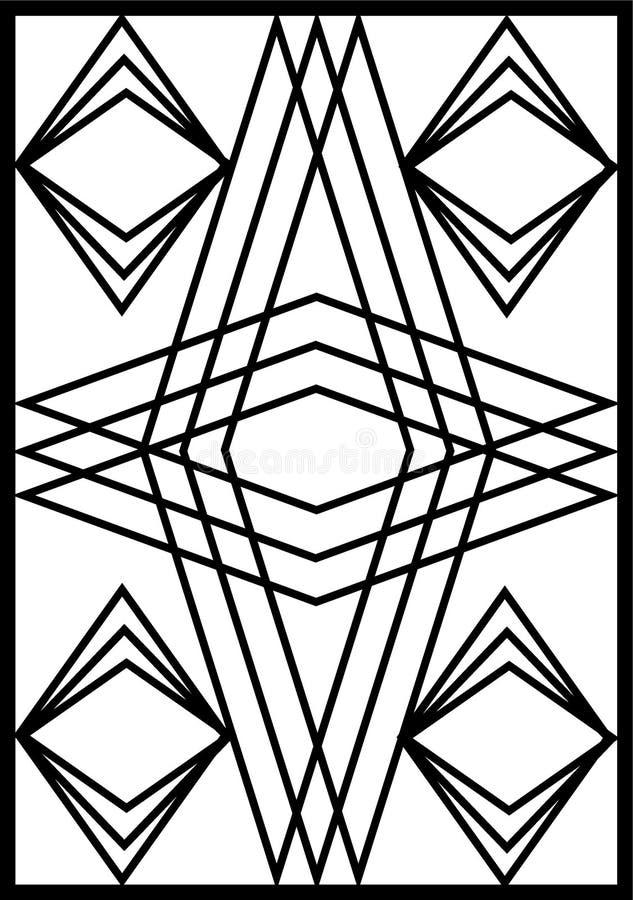 Puerta de las barras de hierro stock de ilustración