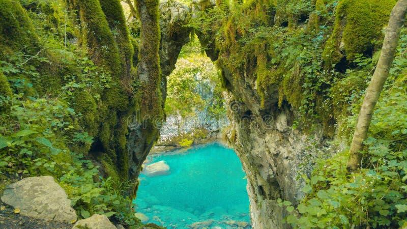 Puerta de los deseos, belleza salvaje de Montenegro del barranco del río de Mrtvica fotos de archivo libres de regalías