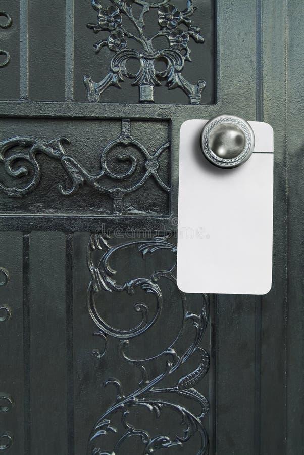 Puerta de lujo con la percha de la muestra foto de archivo