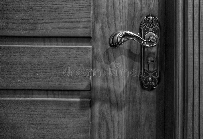 Puerta de madera fotografía de archivo