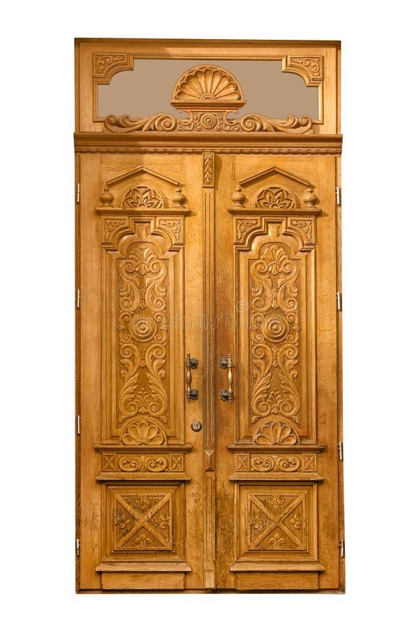 Puerta de madera del vintage cerrado imagen de archivo libre de regalías