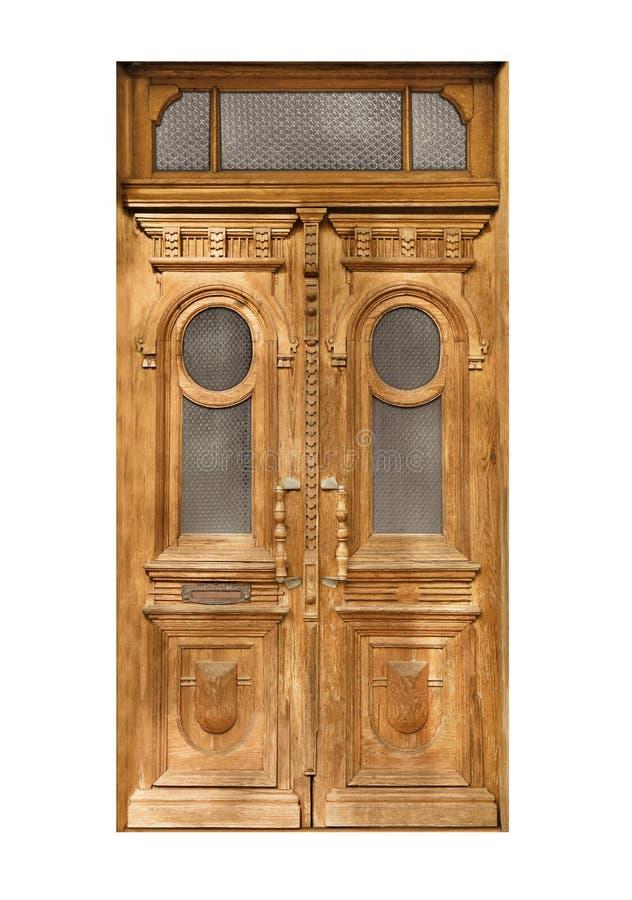 Puerta de madera del vintage cerrado imágenes de archivo libres de regalías