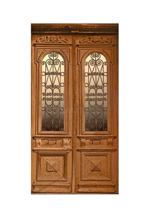 Puerta de madera del vintage cerrado fotografía de archivo