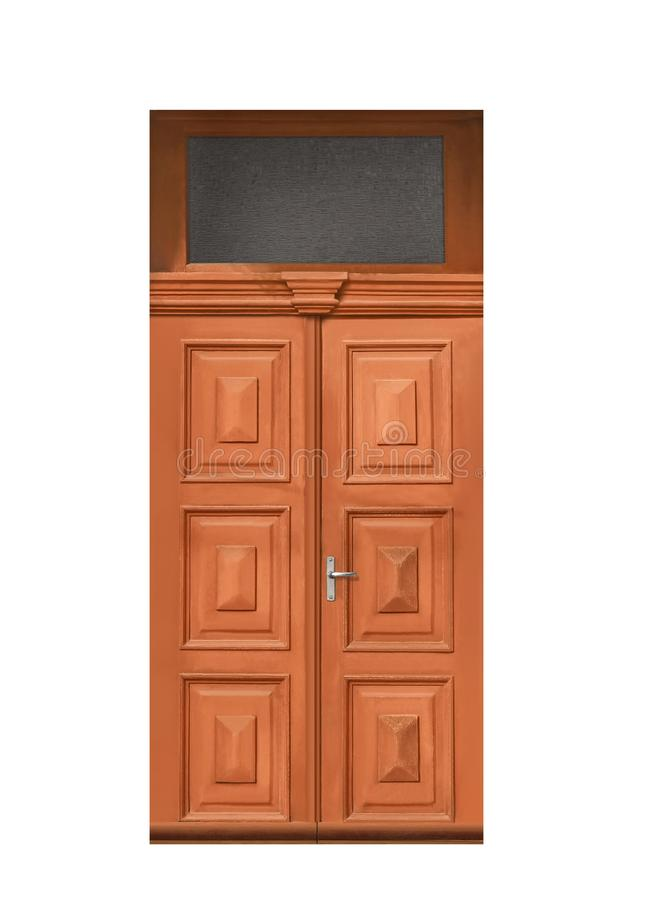 Puerta de madera del vintage cerrado fotos de archivo