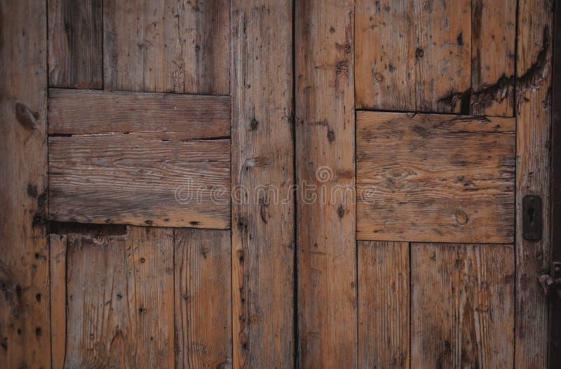 Puerta de madera del vintage Fondo superficial texturizado madera natural foto de archivo libre de regalías