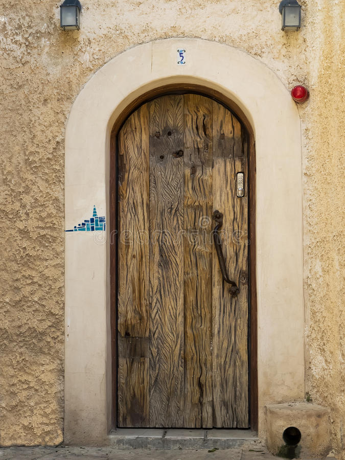 Puerta de madera vieja fotografía de archivo