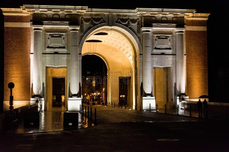 Puerta de Menin fotos de archivo