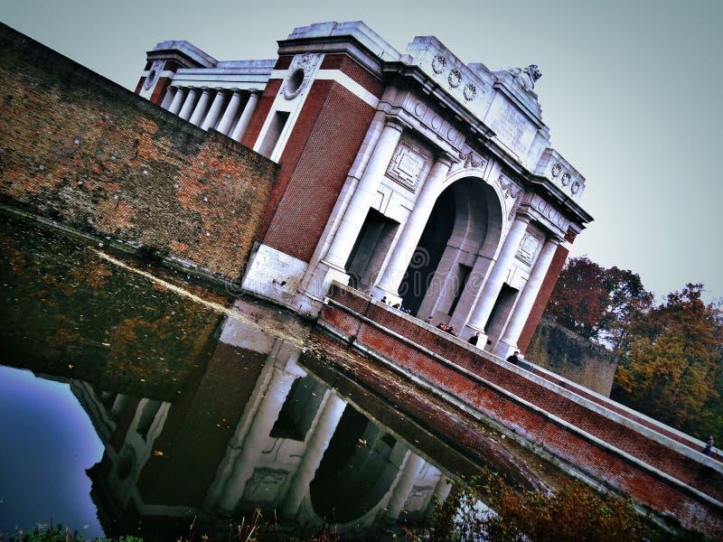 Puerta de Menin en Ypres fotos de archivo libres de regalías
