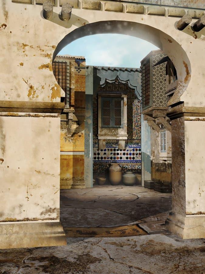 Puerta de oriental de la fantasía libre illustration