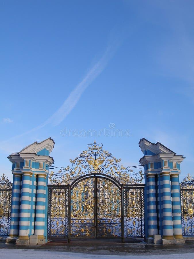 Puerta de oro foto de archivo