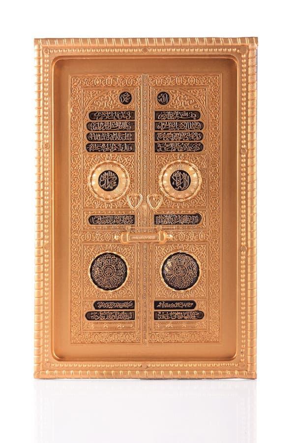 Puerta de oro de Maquette de Kaaba fotografía de archivo libre de regalías