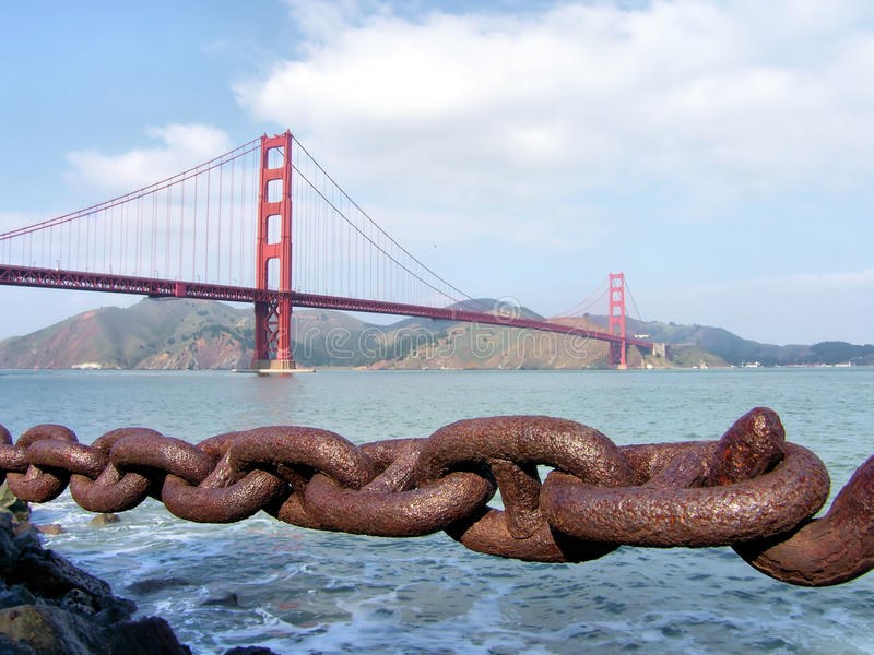Puerta de oro San Francisco imagen de archivo