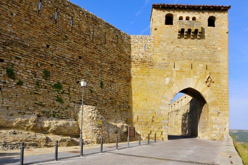 Puerta de San Mateo, a Morella, la Spagna immagini stock libere da diritti