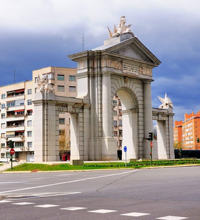 Puerta de San Vincente, Madrid, Spain stock photo