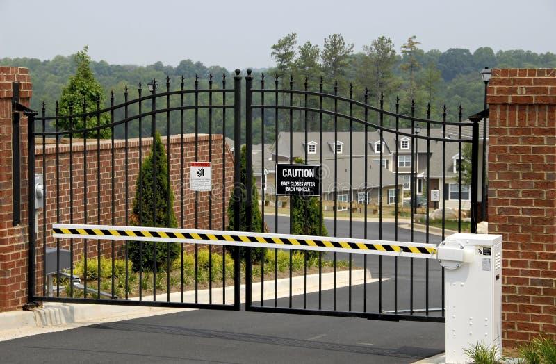 Puerta de seguridad foto de archivo