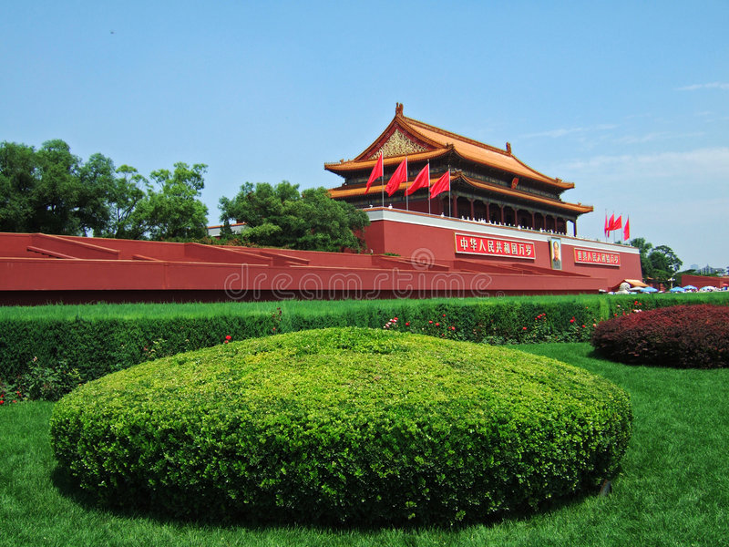 Puerta de Tian'anMen en Pekín fotos de archivo
