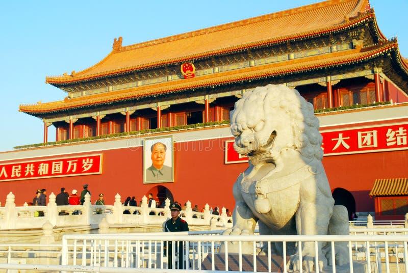 Puerta de Tiananmen en Pekín imágenes de archivo libres de regalías