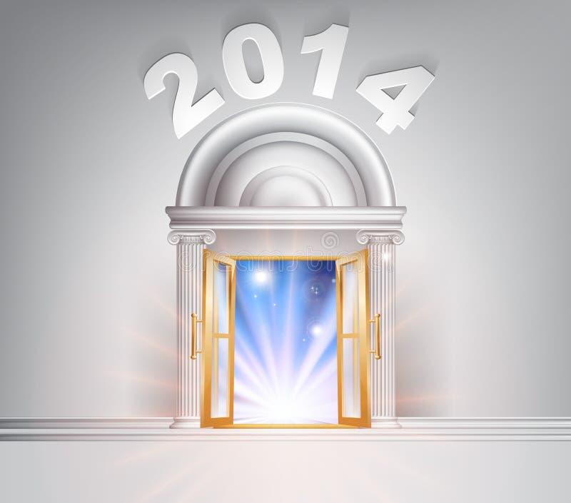 Puerta 2014 del Año Nuevo stock de ilustración
