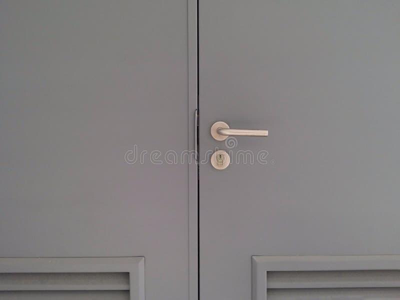 Puerta del acero del doble de la alta seguridad fotos de archivo