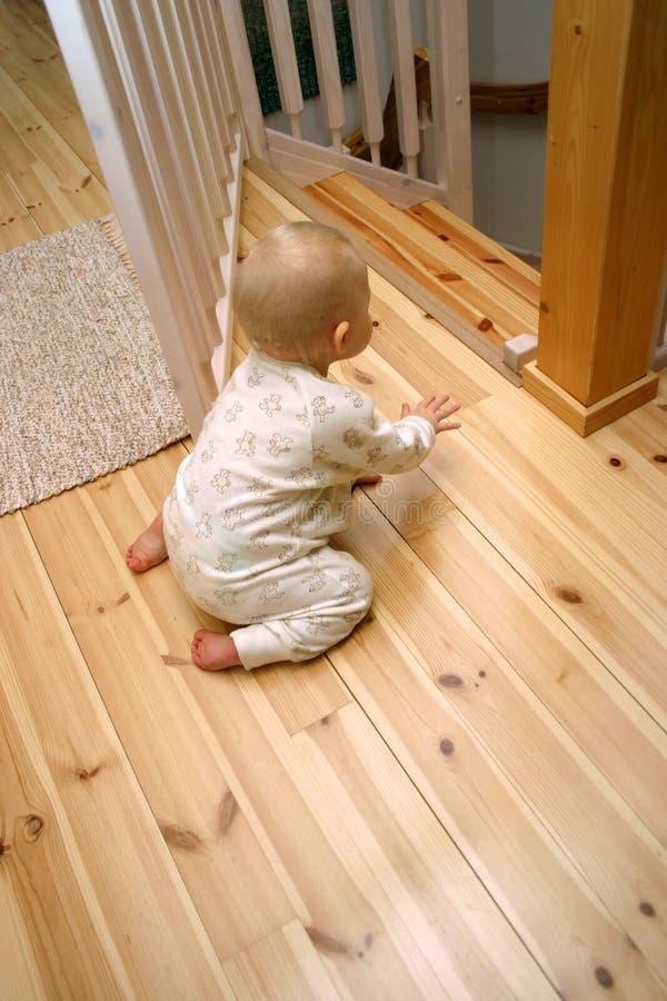 Puerta del bebé abierta foto de archivo