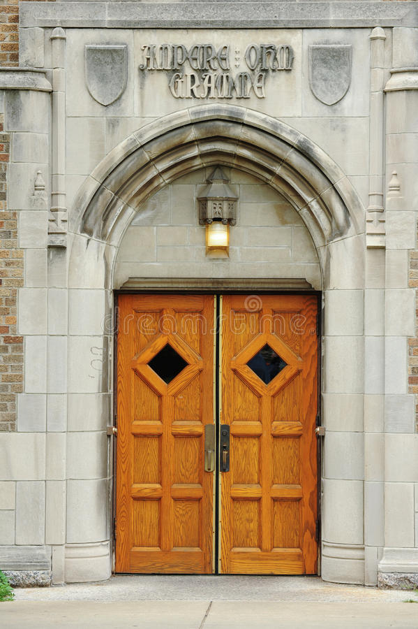 Puerta del campus imagen de archivo