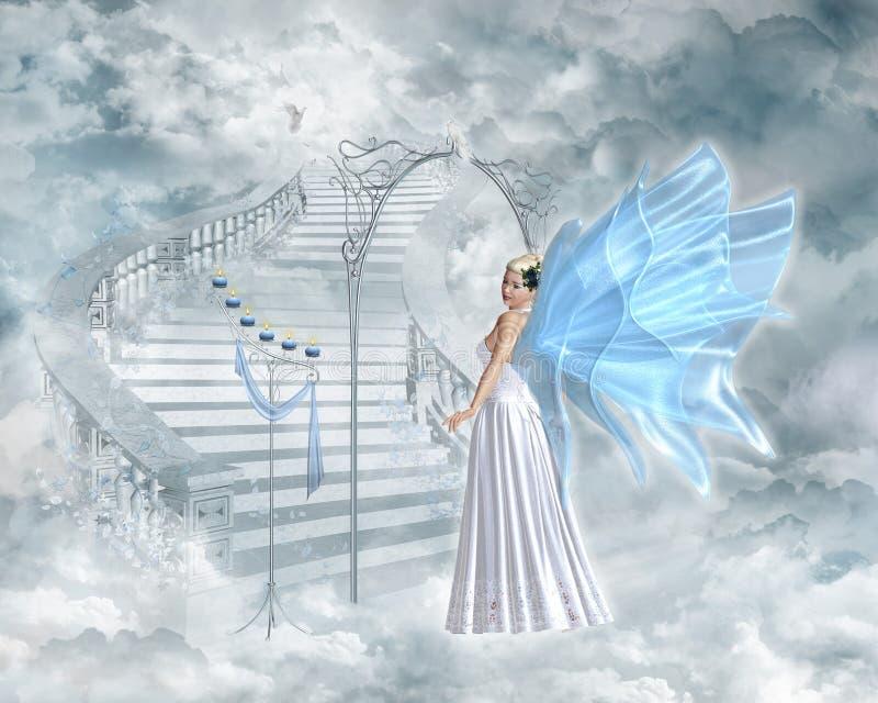 Puerta del cielo ilustración del vector