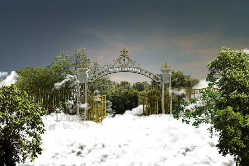 Puerta del cielo stock de ilustración