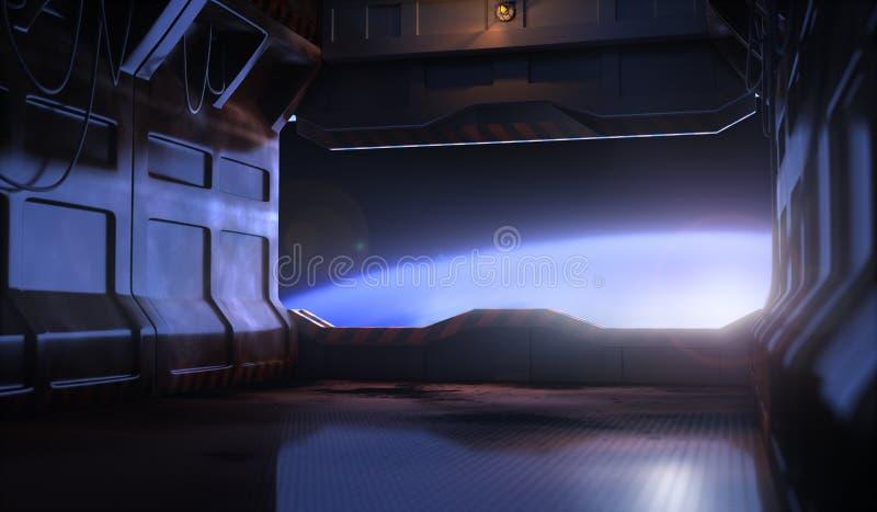 Puerta del espacio stock de ilustración