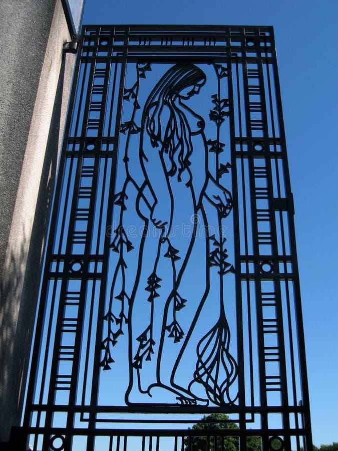 Puerta del hierro en el parque de Vigeland, Oslo imagen de archivo