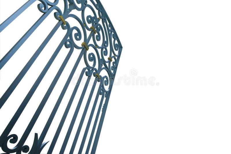 Puerta del hierro labrado imágenes de archivo libres de regalías