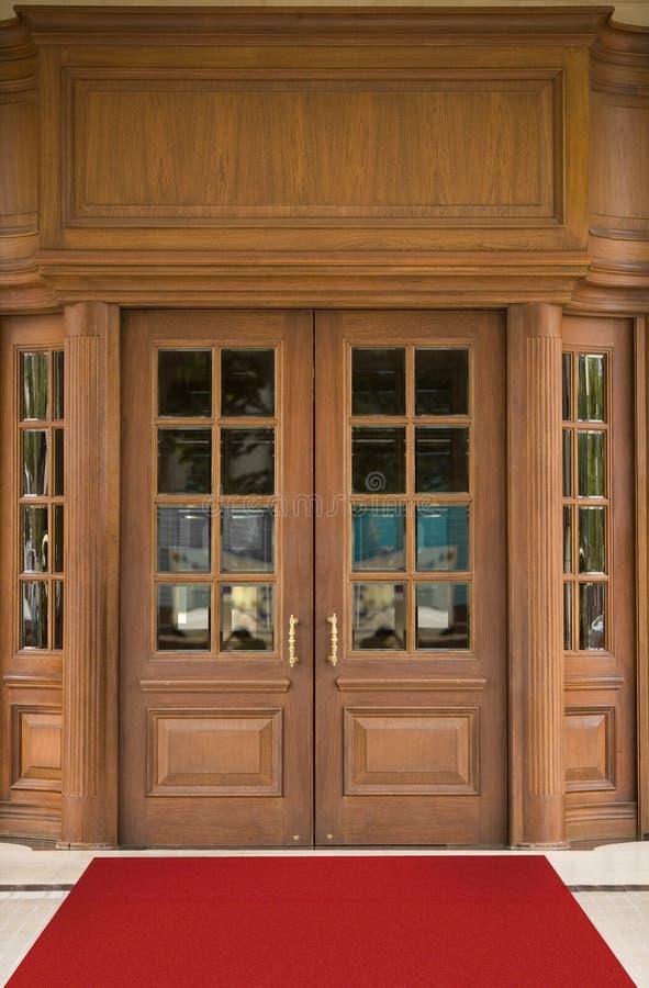 Puerta del hotel fotografía de archivo libre de regalías