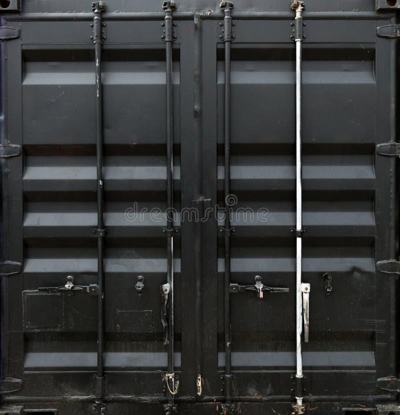 Puerta del metal del contenedor  fotografía de archivo