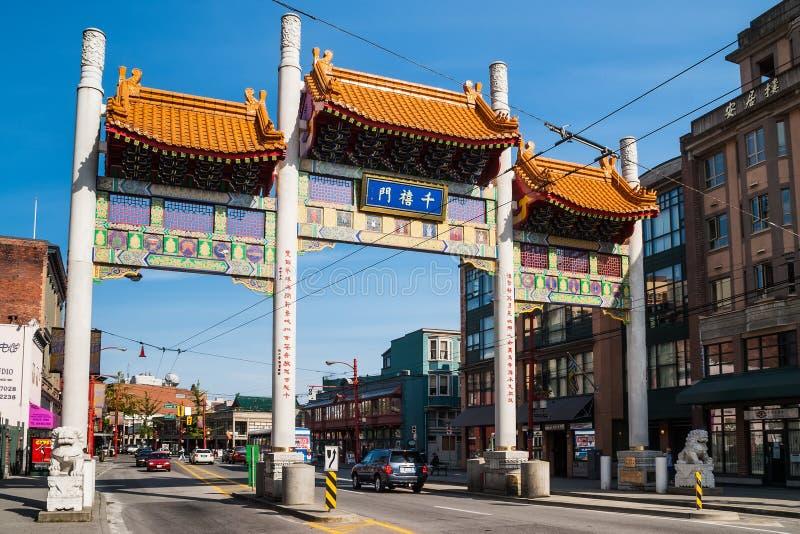 Puerta del milenio en Chinatown de Vancouver foto de archivo libre de regalías