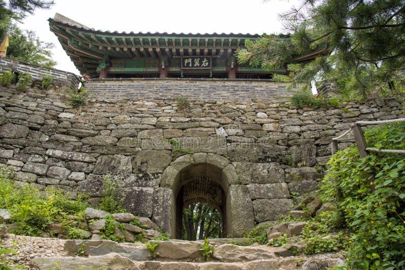 Puerta del norte de Namhan Sanseong foto de archivo