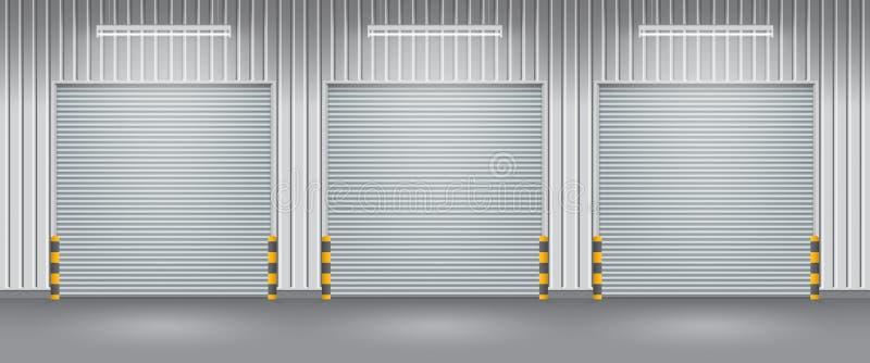 Puerta del obturador stock de ilustración