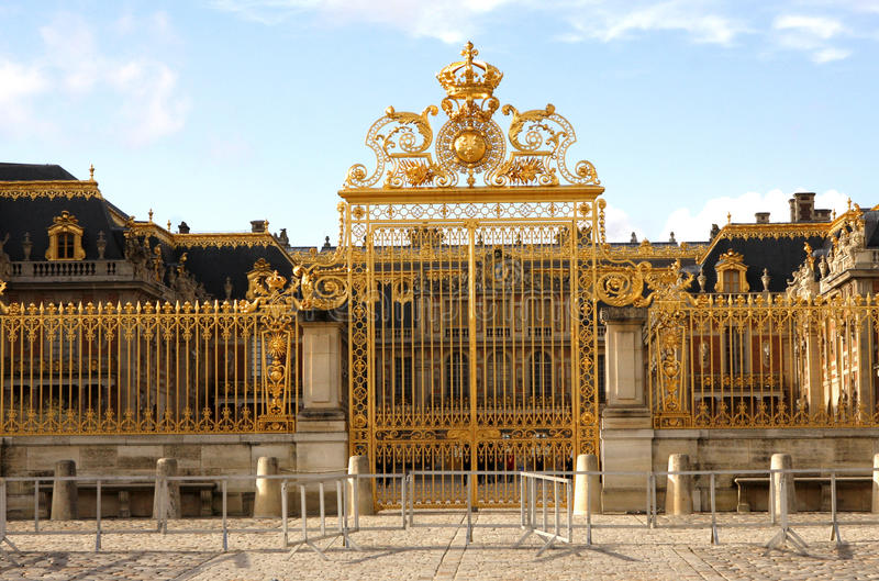Puerta del oro - palacio de Versalles imagenes de archivo
