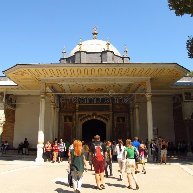 Puerta del palacio de Estambul, Turquía Topkapi de la dicha fotografía de archivo
