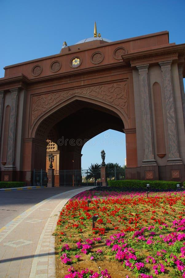 Puerta del palacio de los emiratos fotos de archivo