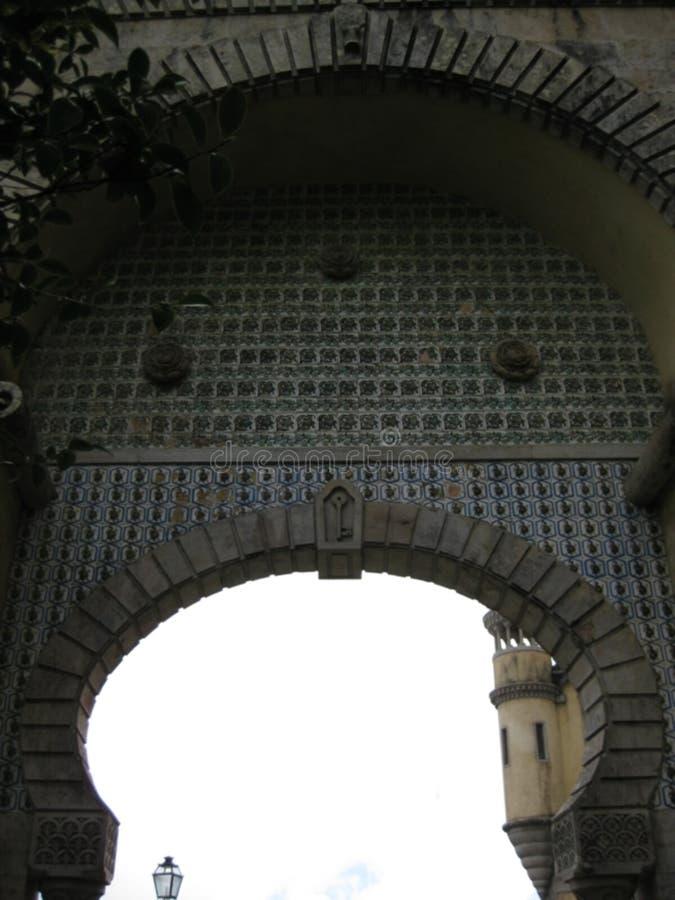 Puerta del palacio de Pena imágenes de archivo libres de regalías