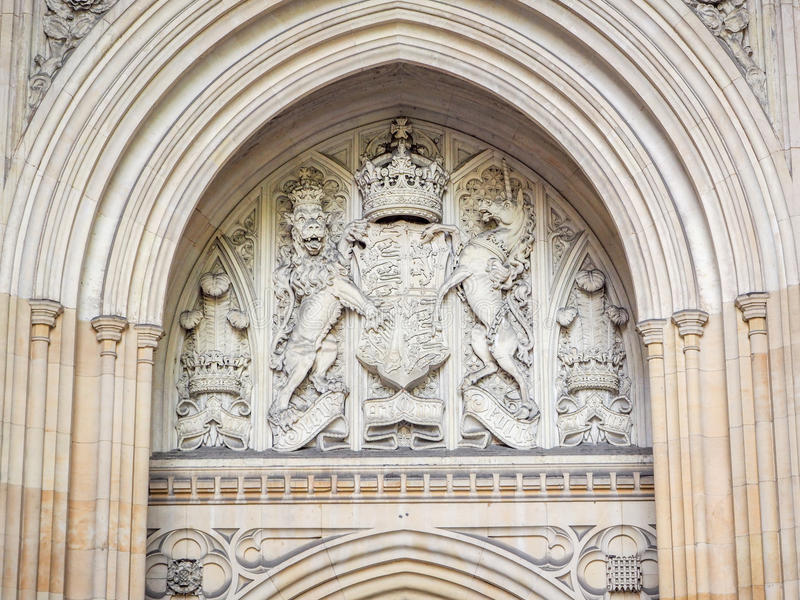 Puerta del palacio de Westminster fotografía de archivo
