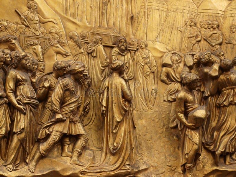 Puerta del paraíso, Florencia, Italia foto de archivo