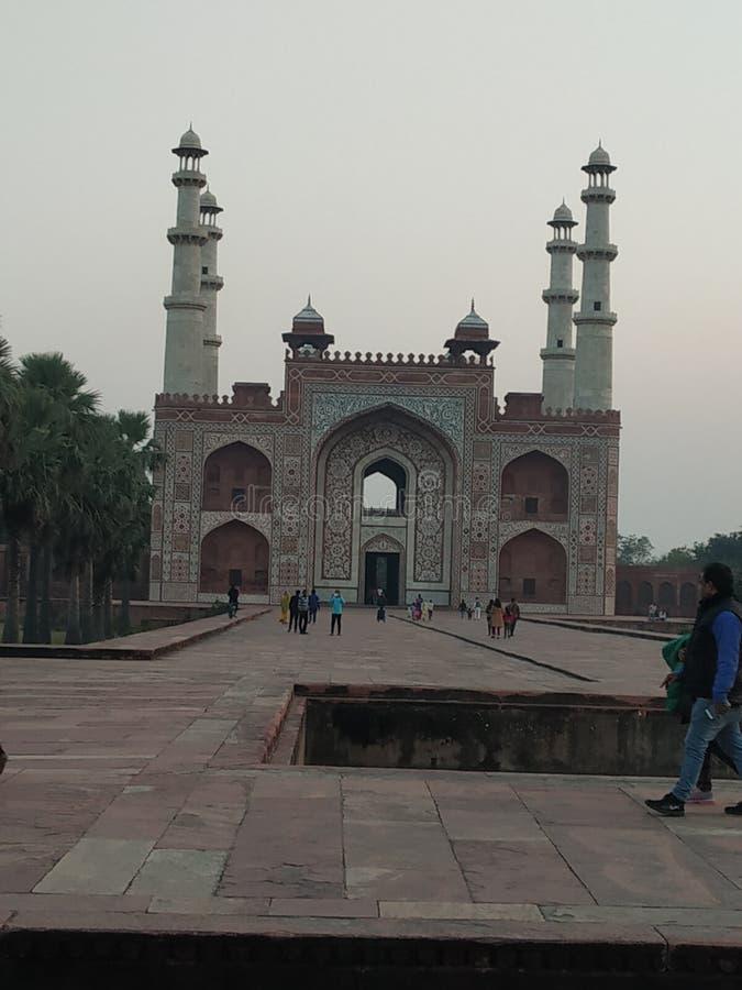 Puerta del sikandra akbar Agra de la tumba imagen de archivo