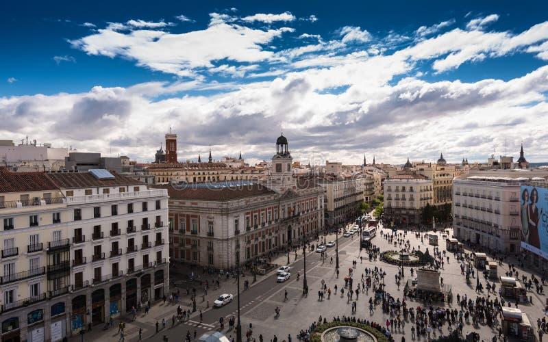 Puerta del Sol Madrid imagen de archivo libre de regalías